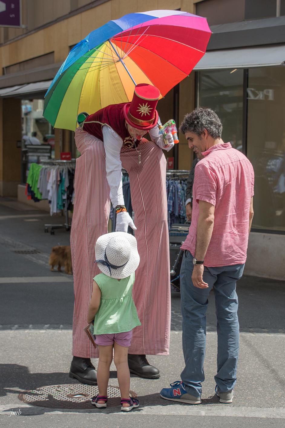 clown et enfant à la quinzaine neuchâteloise 2017