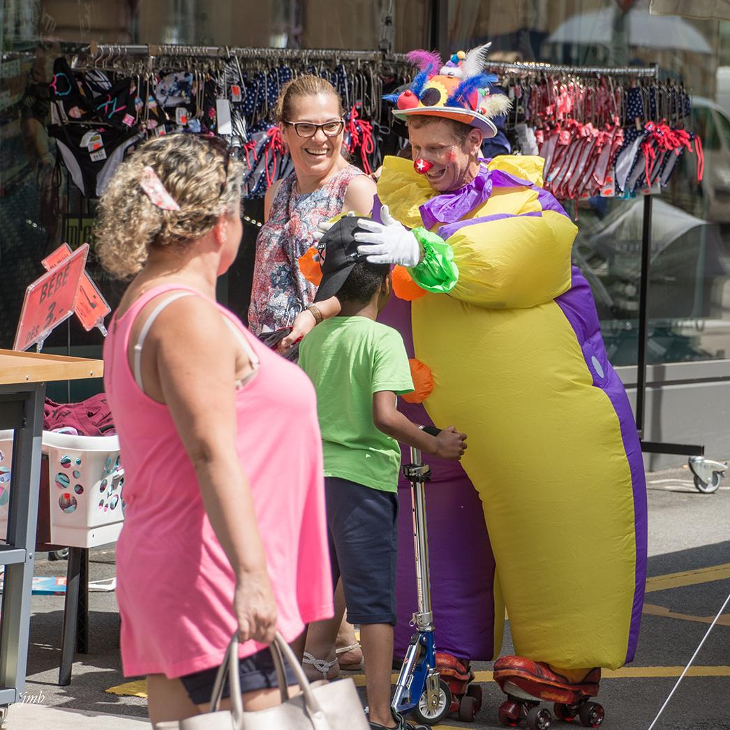 clown à la quinzaine neuchâteloise 2017