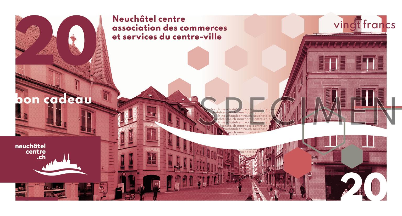 bon cadeau Neuchâtel Centre 20 Francs