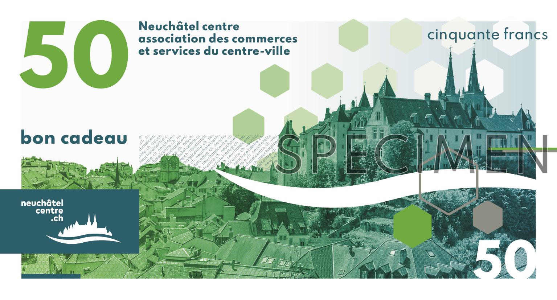 bon cadeau Neuchâtel Centre 50 Francs